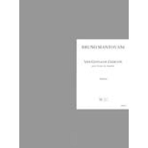 LEMOINE MANTOVANI BRUNO - VIER GEISTLICHE GEDICHTE - CHOEUR DE CHAMBRE