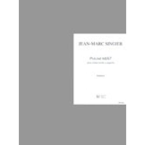 LEMOINE SINGIER JEAN-MARC - PSAUME 68/67 - CHOEUR MIXTE A CAPPELLA