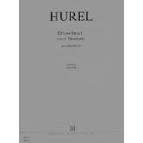 LEMOINE HUREL PHILIPPE - D'UN TRAIT - TRENTEMPS (QUI PASSE) - VIOLONCELLE SOLO