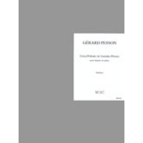 LEMOINE PESSON GERARD - POEMES DE SANDRO PENNA (5) - BARYTON, PIANO