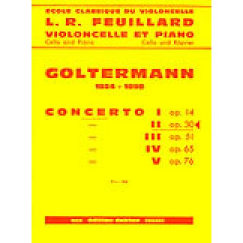 EDITION DELRIEU GOLTERMANN GEORG - CONCERTO N°2 OP.30 EN RE MIN. - PREMIER MOUVEMENT - VIOLONCELLE, PIANO