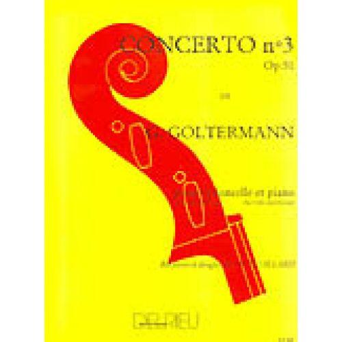 EDITION DELRIEU GOLTERMANN GEORG - CONCERTO N°3 OP.51 EN SI MIN. - PREMIER MOUVEMENT - VIOLONCELLE, PIANO
