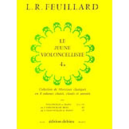 EDITION DELRIEU FEUILLARD LOUIS R. - JEUNE VIOLONCELLISTE (LE) VOL.4B