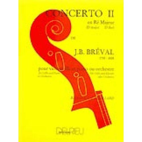 EDITION DELRIEU BREVAL JEAN-BAPTISTE - CONCERTO N°2 EN RÉ MAJ. - VIOLONCELLE, PIANO
