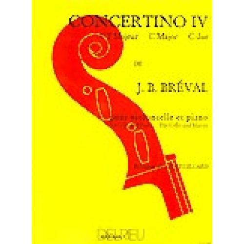 EDITION DELRIEU BREVAL JEAN-BAPTISTE - CONCERTINO N°4 EN UT MAJ. - VIOLONCELLE, PIANO