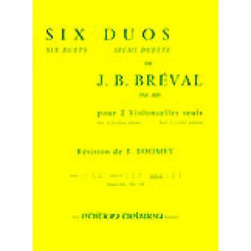EDITION DELRIEU BREVAL J.B. - DUOS (6) VOL.3 - 2 VIOLONCELLES
