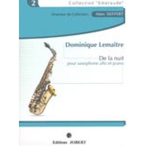 JOBERT LEMAITRE DOMINIQUE - DE LA NUIT - SAXOPHONE ALTO, PIANO