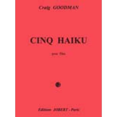 JOBERT GOODMAN GRAIG - HAIKU (5) - FLUTE