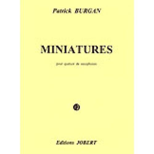 JOBERT BURGAN PATRICK - MINIATURES - 4 SAXOPHONES