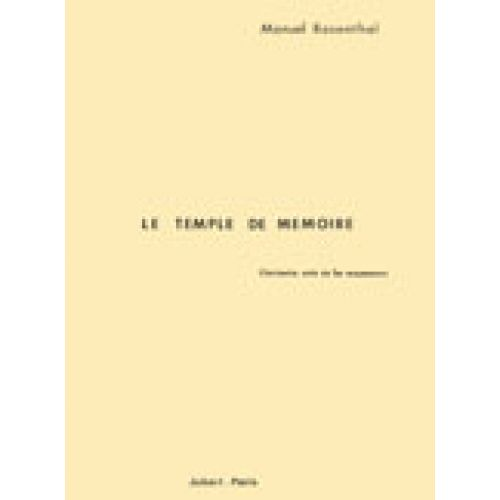 JOBERT ROSENTHAL MANUEL - LE TEMPLE DE MEMOIRE - SOLO DE CLARINETTE (1ER MOUVEMENT)