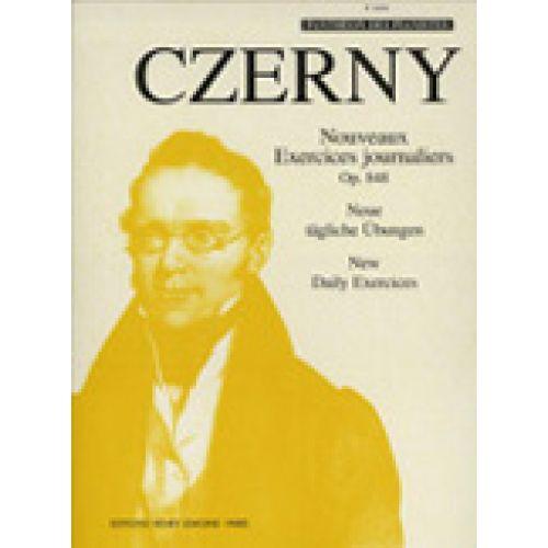 LEMOINE CZERNY CARL - NOUVEAUX EXERCICES JOURNALIERS OP.848 - PIANO