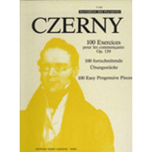 LEMOINE CZERNY CARL - EXERCICES POUR LES COMMENÇANTS (100) OP.139 - PIANO