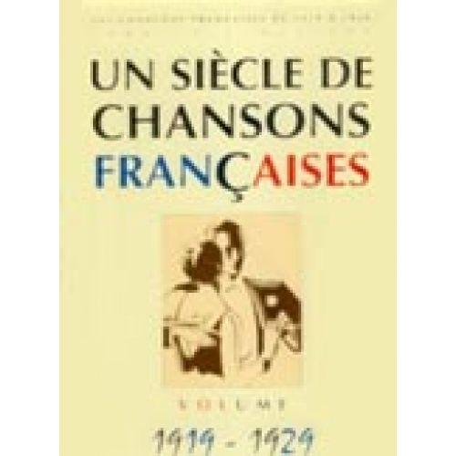 PAUL BEUSCHER PUBLICATIONS SIÈCLE CHANSONS FRANÇAISES 1919-1929 - PVG