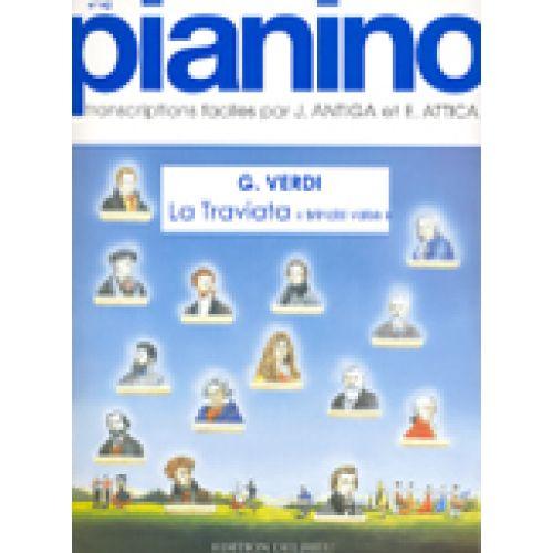 EDITION DELRIEU VERDI G. - LA TRAVIATA - PIANINO 142 - PIANO