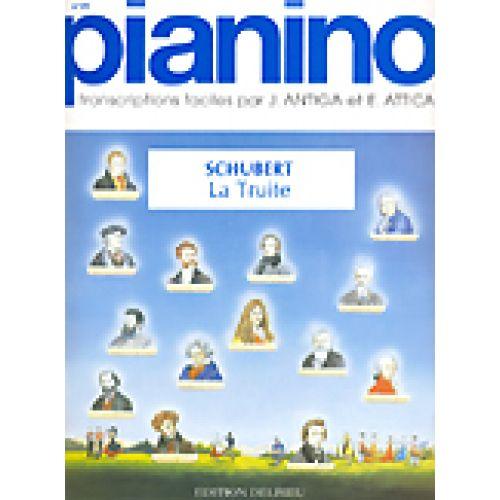 EDITION DELRIEU SCHUBERT F. - LA TRUITE - PIANINO 19 - PIANO