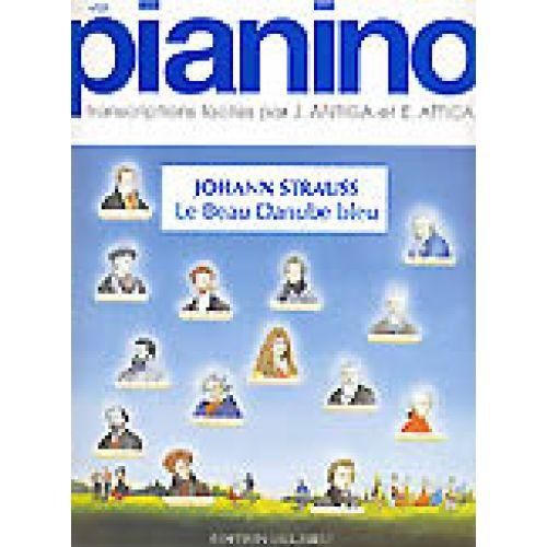 EDITION DELRIEU STRAUSS J. - LE BEAU DANUBE BLEU - PIANINO 21 - PIANO