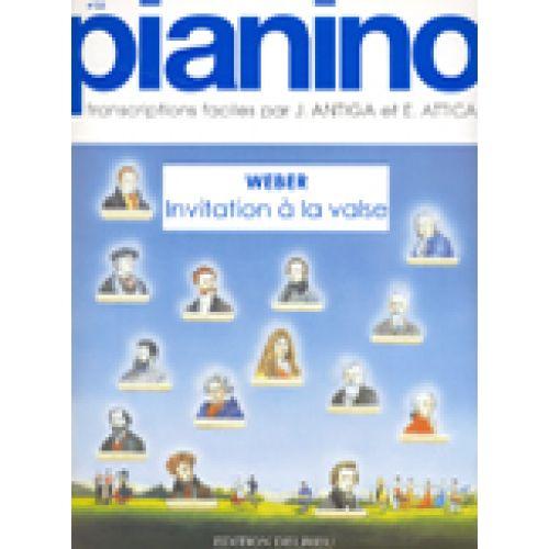 EDITION DELRIEU WEBER C.M. VON - INVITATION A LA VALSE - PIANINO 25 - PIANO