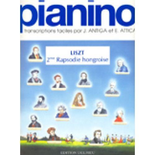 EDITION DELRIEU LISZT F. - RHAPSODIE HONGROISE N°2 - PIANINO 63 - PIANO