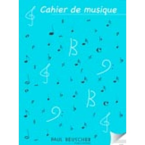 LEMOINE CAHIER DE MUSIQUE 12 PORTÉES - GRAND FORMAT