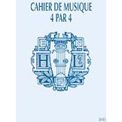 LEMOINE CAHIER MUSIQUE 16 PORTÉES 4/4 - RELIURE SPIRALE