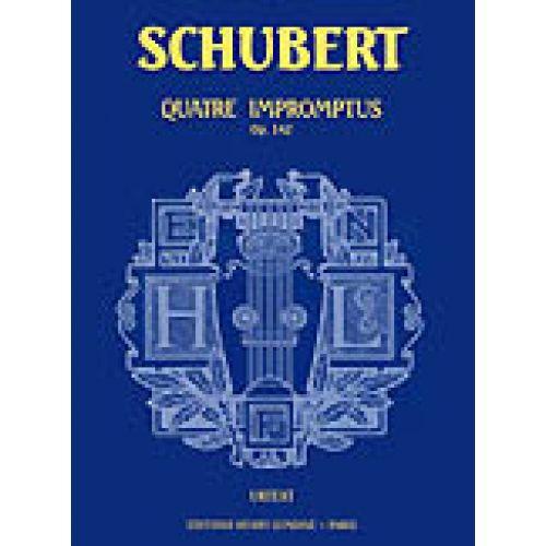 LEMOINE SCHUBERT F. - IMPROMPTUS OP.142 (4) - PIANO