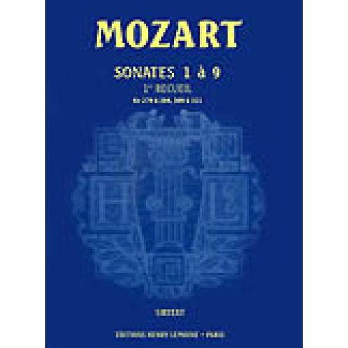 LEMOINE MOZART W.A. - SONATES VOL.1 N°1 A 9 - PIANO