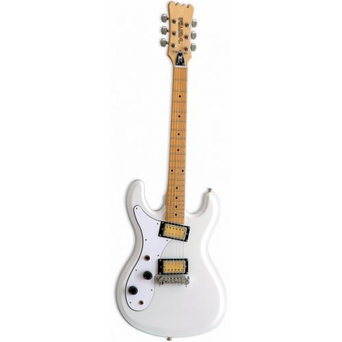 EASTWOOD GUITARS SIDEJACK SERIES HI-FLYER PHASE IV WHITE LH
