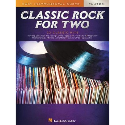 HAL LEONARD CLASSIC ROCK FOR TWO FLUTES - 2 FLUTES TRAVERSIERES
