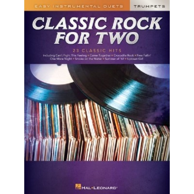HAL LEONARD CLASSIC ROCK FOR TWO TRUMPETS - 2 TROMPETTES