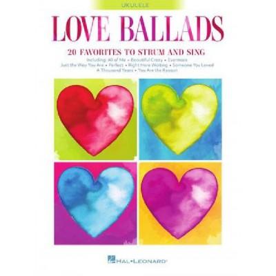 HAL LEONARD LOVE BALLADS - UKULELE