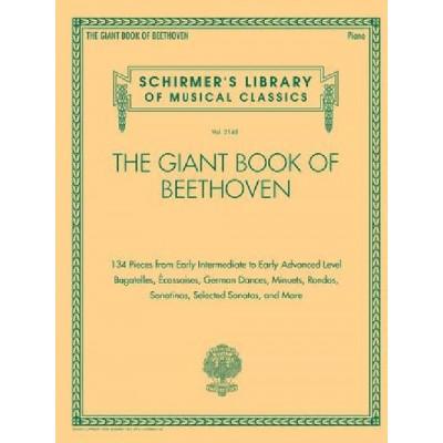 HAL LEONARD LUDWIG VAN BEETHOVEN - THE GIANT BOOK OF BEETHOVEN - PIANO