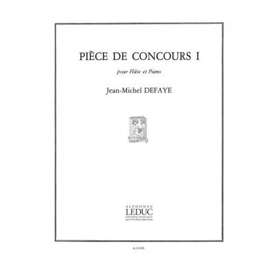 LEDUC DEFAYE JEAN-MICHEL - PIECE DE CONCOURS I - FLUTE & PIANO