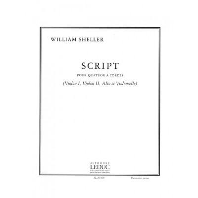 LEDUC SHELLER WILLIAM - SCRIPT - QUATUOR A CORDES