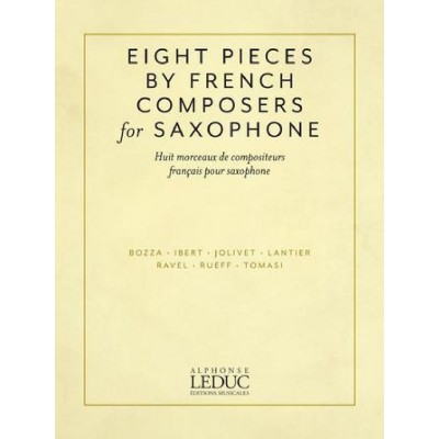 LEDUC EIGHT SAXOPHONE PIECES BY FRENCH COMPOSERS