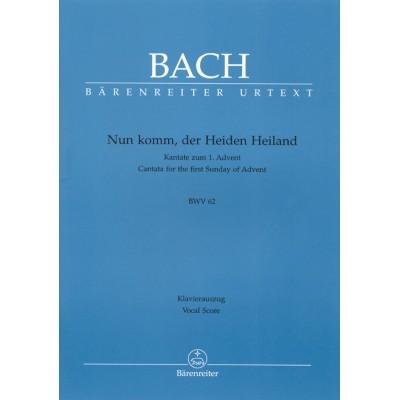BARENREITER BACH J.S. - NUN KOMM, DER HEIDEN HEILAND