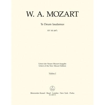 BARENREITER MOZART W.A. TE DEUM LAUDAMUS KV 141 (66B)