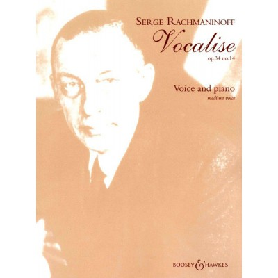 BOOSEY & HAWKES RACHMANINOFF S. - VOCALISE OP. 34/14 - MEDIUM VOICE AND PIANO