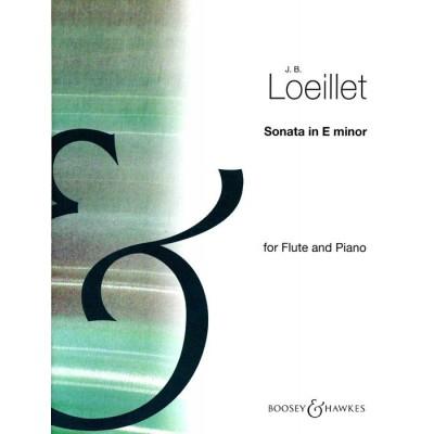 BOOSEY & HAWKES LOEILLET J.B. - SONATA E MINOR - FLUTE AND PIANO