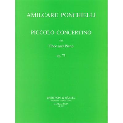 MUSICA RARA PONCHIELLI AMILCARE - CONCERTINO OP. 75 - OBOE, PIANO