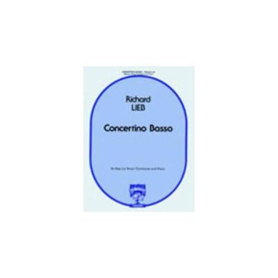 CARL FISCHER LIEB RICHARD - CONCERTINO BASSO - TROMBONE BASSE (OU TENOR) & PIANO