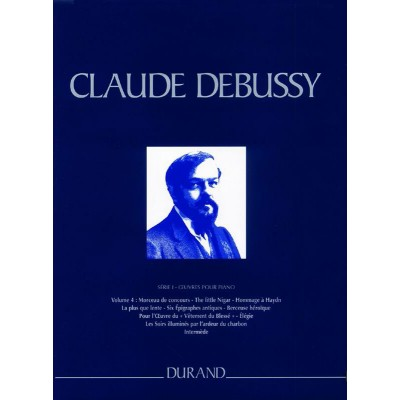 DURAND DEBUSSY CLAUDE - OEUVRES COMPLETES SERIE 1 VOL 4 - PIANO