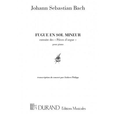 DURAND BACH J.S. - FUGUE EN SOL MINEUR, BWV 578 - PIANO