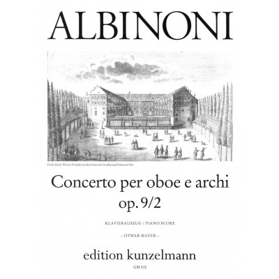 KUNZELMANN ALBINONI TOMASO - CONCERTO IN D MINOR OP.9 NO.2 - OBOE AND PIANO