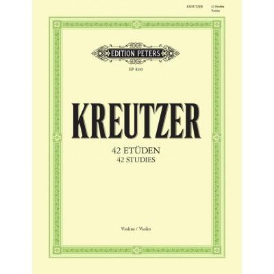 EDITION PETERS KREUTZER RUDOLPHE - 42 ETUDES OR CAPRICES - VIOLIN