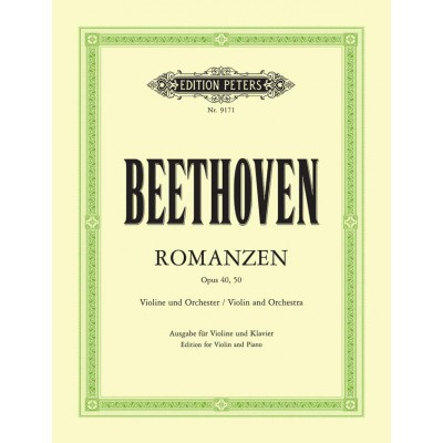 EDITION PETERS BEETHOVEN L.VAN - ROMANCES OP.40 ET 50 - VIOLON