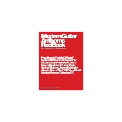 FABER MUSIC MODERN GUITAR ANTHEMS RED BOOK - GUITAR TAB