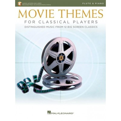 HAL LEONARD MOVIE THEMES FOR CLASSICAL PLAYERS-FLUTE & PIANO