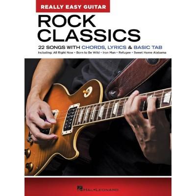 HAL LEONARD ROCK CLASSICS - REALLY EASY GUITAR SERIES