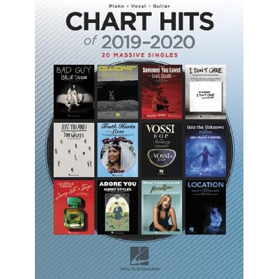 HAL LEONARD CHART HITS OF 2019-2020 - PIANO, VOCAL AND GUITARE