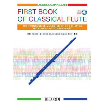 RICORDI FIRST BOOK OF CLASSICAL FLUTE - FLUTE AND PIANO